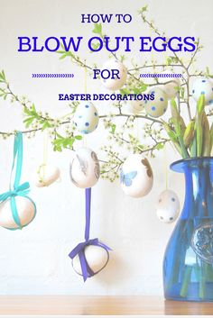 Easy instructions for how to blow-out eggs for Easter decorations (hollow eggs can be painted and kept for years). Once blown out, your eggs can be decorated however you like!