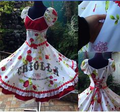 Chile, Strapless Dress, Kids, Dresses, Fashion, Folklorico Dresses, Folklore, Templates, Upcycling