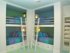4 kids but your house is not bigg:(  you can make one room 4 beds