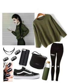 """""""#outfit #inspiration. by a draw"""" by aura-helena on Polyvore featuring Topshop, WithChic, Savannah Hayes, Chanel, Lancaster, Vans, Soma, outfit and inspiration"""