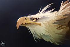 Eagle, Nicola Saviori on ArtStation at https://www.artstation.com/artwork/kwgDz ★ Find more at http://www.pinterest.com/competing/
