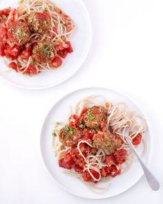 "harissa lentil ""meatballs""   spaghetti on Clean Food Dirty City"
