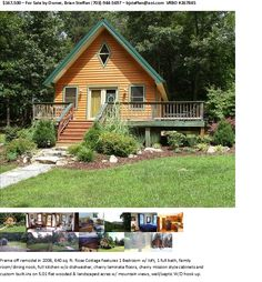 For Sale Flyer for Rose Cottage