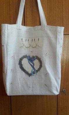 Taška na plece Textiles, Reusable Tote Bags, Fabrics, Textile Art