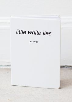 Little White Lies Journal - Perfect gift for assholes who cheat on their partners. This way they can remember what they've told and to whom. Should have gotten one of these for my hubby!