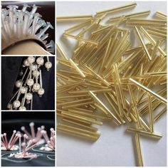 This listing is for above glass tube beads. Measure: 2 cm with 1 mm holes Total : 500 gm Appro. pieces Condition : brand new Wholesale order are welcomed Thank-you:) Embroidery Materials, Bead Embroidery Patterns, Tambour Embroidery, Couture Embroidery, Embroidery Jewelry, Hand Embroidery, Embroidery Designs, Broderie Simple, Bead Sewing