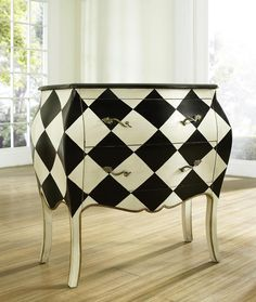 black-and-white-furniture-pulaski.... so alice in wonderland like! Love