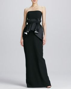 Ruffled waist gown by Raoul at Neiman Marcus, $660.00.