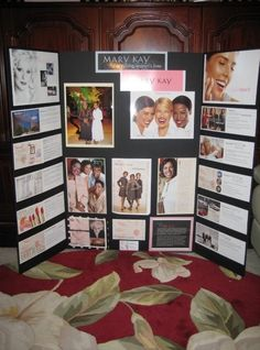 This display board explains the Mary Kay story.....