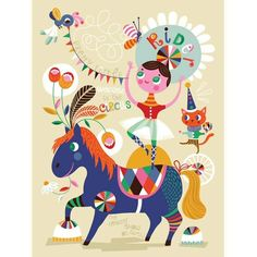 Affiche Helen Dardik Circus