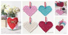 DIY Crochet Granny Hearts