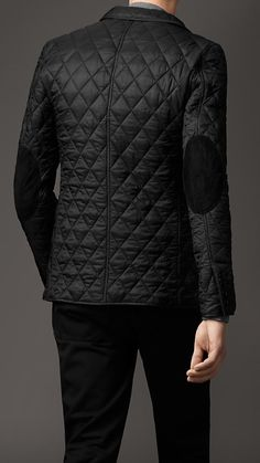 Burberry never fails...I love a quilted anything, but its rare to see it in menswear. ELBOW DETAIL