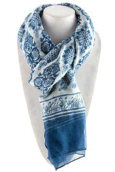 Beautiful blue scarf.