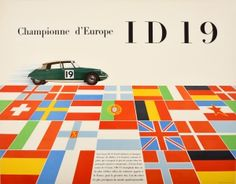 Citroen Europe Champion, 1956 - original vintage poster listed on… Citroen Ds, Poster S, Sale Poster, European Flags, Winter Olympic Games, Original Vintage, Cinema Posters, Racing Motorcycles, Retro Design