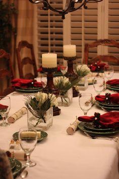 holiday table settings | #christmas