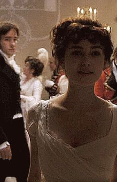 I love that moment...  Me, too! Oh, SNAP, Lizzy! He's been SERVED, and that, ladies and gentlemen, is the exact moment Darcy fell in love...