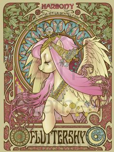 Fluttershy Nouveau by ~hezaa on deviantART    Don't judge, My Little Pony is actually pretty awesome, and Fluttershy is the best pony!!