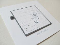 Carolas Bastelstübchen: Beileidskarten modern