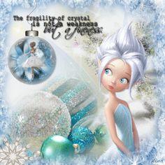 Crystal Gazing ~ Christmas Fairy Blingee by stina scott