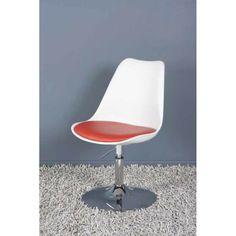 Disponible sur Sotendance.com Fauteuil design Cosmo Blanc et Rouge