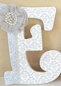 Baby name letters on pinterest boy nursery letters baby for Baby room decoration letters