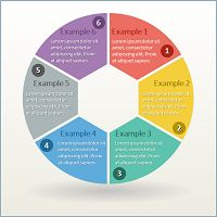 6 circle diagrams for infographic by theseamuss on creativemarket circle infographic with 6 parts for powerpoint ccuart Images