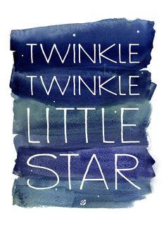 twinkle twinkle little star free printable | lost bumblebee.