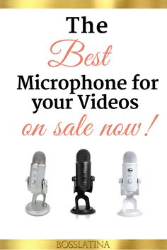 The best microphone for your videos and even podcasts