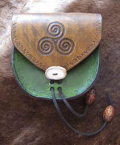 Celtic Spiral Belt Pouch