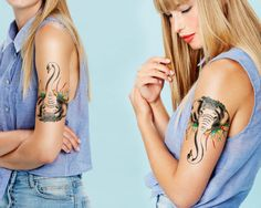 Salvador Dali temporary tattoo / large temporary by Siideways