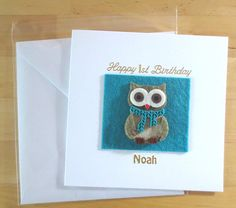 Check out this item in my Etsy shop https://www.etsy.com/uk/listing/384689290/birthday-card-owl-son-first-birthday