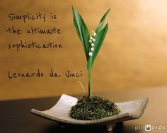 Simplicity is the ultimate sophistication - Leonardo Japanese Plants, Japanese Flowers, Japanese Art, Ikebana Arrangements, Floral Arrangements, Flower Arrangement, Botanical Flowers, Diy Flowers, Art Floral