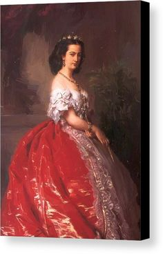 "New artwork for sale! - "" Princess Mathilde Bonaparte Canvas Print / Canvas Art by Winterhalter Franz Xaver "" - https://ift.tt/2LB31E1"
