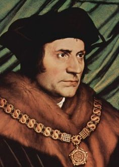 """The symbolism is shown a 1527 painting """"Portrait of Thomas Morus"""" or """"Sir Thomas More"""" as Lord Chancellor, by the Artist…"""