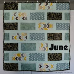 In my last post, I shared the Buckeye Brick quilt I recently finished. I mentioned that it was the second time I've used this pattern. Scrappy Quilts, Easy Quilts, Kid Quilts, Quilting, D School, Metallic Prints, Quilt Making, Bricks, Large Prints