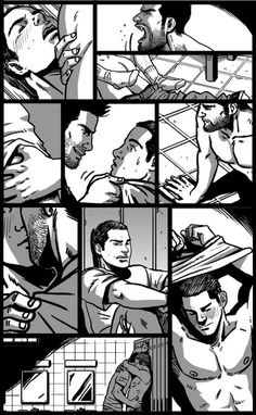 cris-art: Hello everyone! I finally finished the Sterek Doujinshi I've been busy working on lately. Here you have a collage of some panels from the story. I will soon let you know of the release date of the anthology dedicated to this series.I hope you like it! ♥