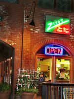 Zito's Pizza. Take out, eat in or delivery available. Only a 5 minute walk from campus. Located at 156 N. Glassell St.