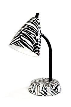 zebra lamp from Gordmans
