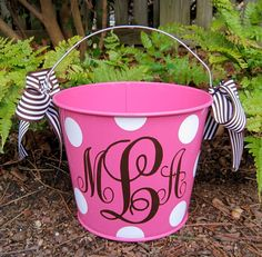 Personalized Easter Bucket assorted colors-5 QT.  $22.00