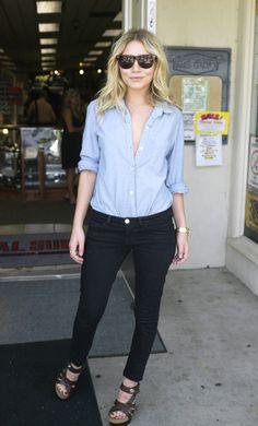Ashley Olsen #chambray #style