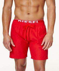 DIESEL Diesel Men's BMBX Dolphin-E Solid Swim Shorts . #diesel #cloth # swimwear