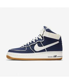b722d94a177e Nike Air Force 1 07 High LV8 Binary Blue Black Gum Light Brown Sail Men s  Air