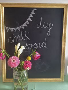 Pretty Providence | A Frugal Lifestyle Blog: DIY Chalkboard (from thrifted frame!)