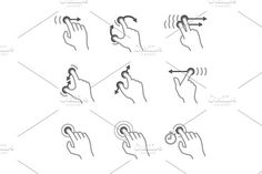 Touch Pad Gestures. Human Icons. $3.00