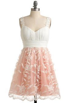Would love to wear this dress to Angela's rustic romantic wedding.