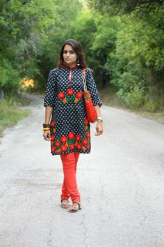 This lady sure does know how to create a tasty tangy stylish treat! Dress Over Pants, Indian Outfits, Indian Fashion, Style Me, Tasty, Asian, Stylish, Create, Fun