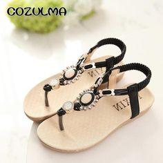 192122ff17ca0 COZULMA Summer Girls Sandals Children Shoes Rhinestone Princess Dress  Shoes. Sandale EnfantChaussure ...