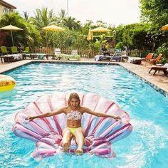 Mermaid Me Shell Float Pool Float Pool, Pool Floats, Mermaid Pool Float, Lake Floats, Summer Of Love, Summer Fun, Summer Pool, Summer Things, Late Summer