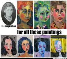 7 FACE Paintings - from a single inspiration http://artforthesoulofit.com/art-tip-7-paintings-single-inspiration/