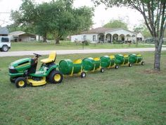 We provide the full service of arriving to your location, and entertainmenting your guest on a wonderful ride on The John Deere Tractor Barrel Train. Our conductor will host a hour and a. Tractor Birthday, Farm Birthday, 3rd Birthday Parties, Theme Parties, Party Themes, Kids Outdoor Play, Backyard Play, Backyard For Kids, Outdoor Fun